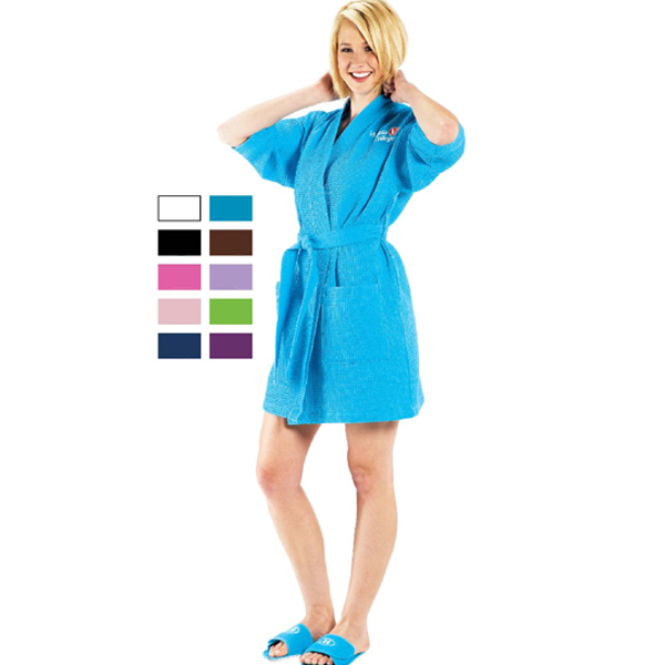 Best Seller Monogrammed Spa Robe Kimono Style Short Waffle Weave ....Perfect for Bridesmaids, Grads, Moms