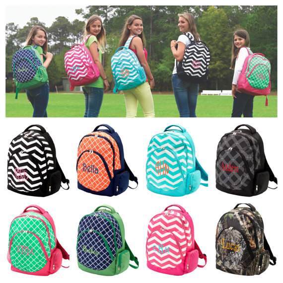 School Backpacks Monogrammed backpacks personalized backpacks School ...