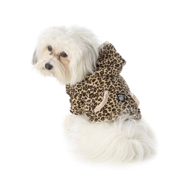 Leopard Print Dog Hoodie Plain or Personalized