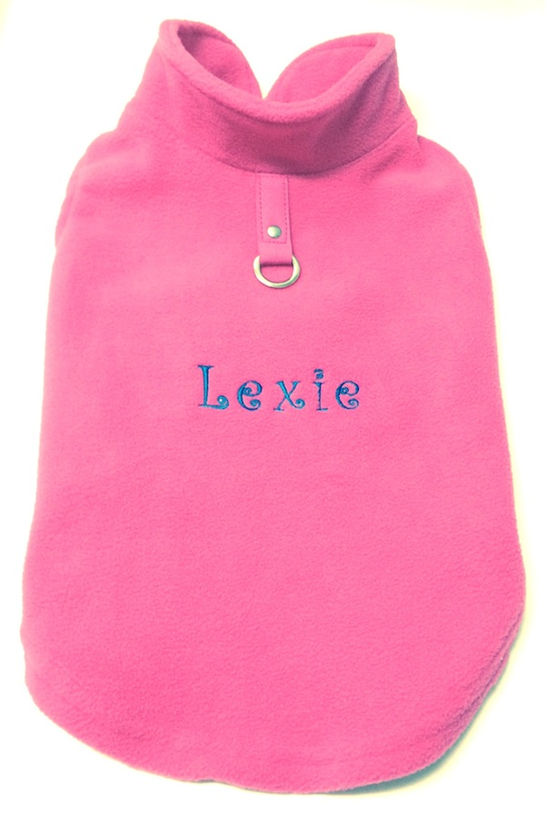 #2 Best Seller Gooby Fleece Dog Coat Harness Vest Custom Embroidered or Plain-XS to XL for Small Breeds, More Colors!