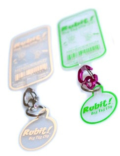 Rubit Dog Tag Clips - Change Dog Tags Easily from Collar to Collar