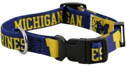 NCAA Michigan Wolverines Dog Collar Officially Licensed