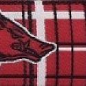 NCAA Arkansas Razorback Plaid Dog Collar, Leash NCAA Officially Licensed