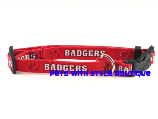 NCAA Wisconsin Badgers Dog Collar Officially Licensed