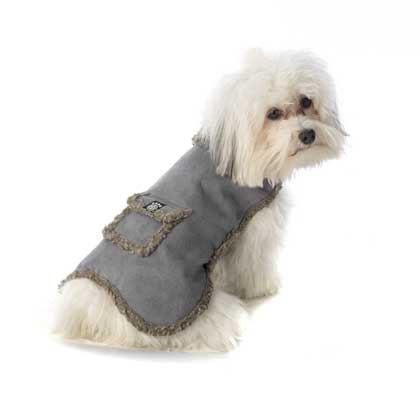Heavy Duty Faux Suede Sherpa Lined Dog Coat-dog coat pet rageous designs faux suede sherpa lined