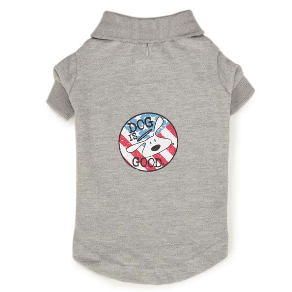 Dog Patriotic Polo Shirt - Plain or Personalized with your Pet's Name