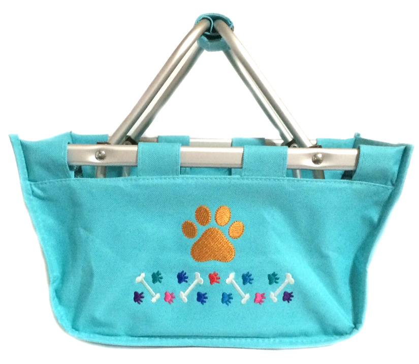 Dog Mini Market Basket Tote - More Colors, Pet Supply Storage, Organized Pet, Store Pet Toys