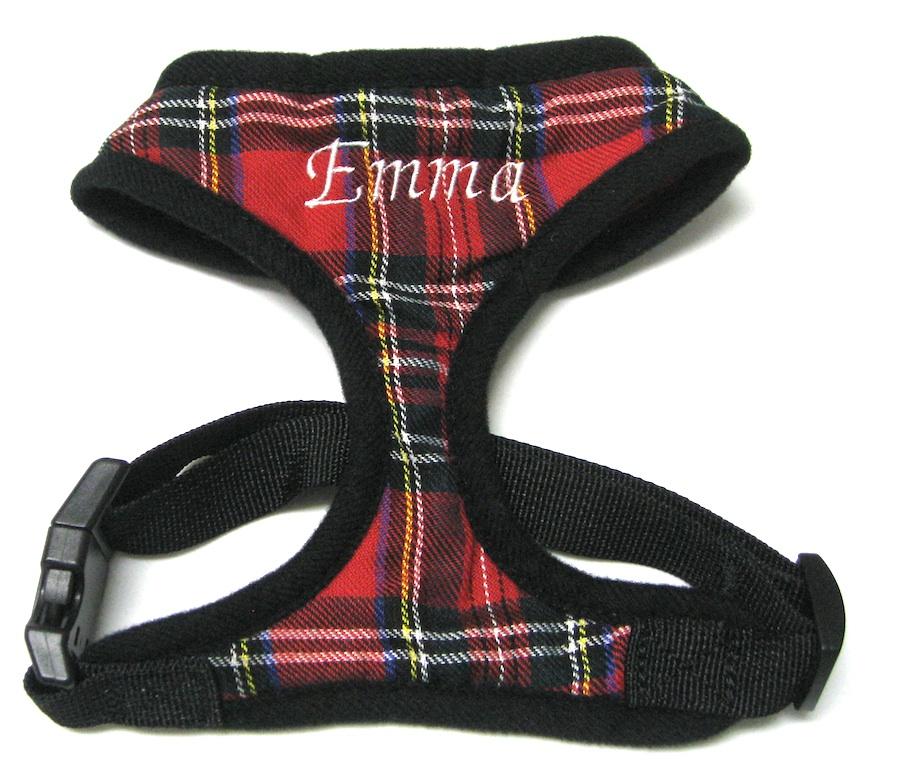 Tartan plaid dog harness also tartan plaid dog collar moreover step