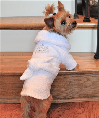 New Personalized Dog Spa Robe Custom Embroidered with Name