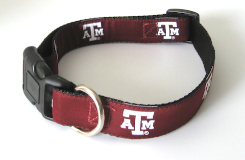 NCAA Texas A & M Dog Collar Officially Licensed Texas A & M Dog Collar and/or Leash