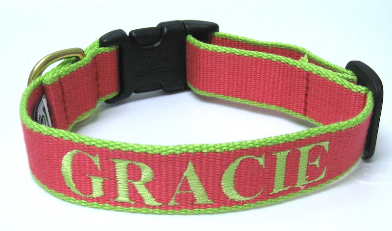 #1 Best Seller Dog Collar - Personalized Embroidered Bamboo Dog Collar - More Colors, Plain or Personalized