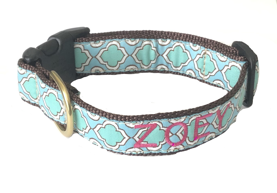 Best Seller Personalized UpCountry Designer Seaglass Dog Collar