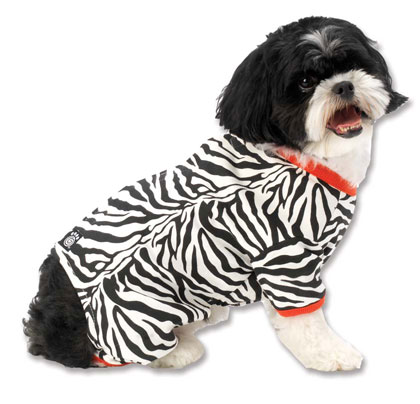 Dog Pajamas Personalized with Pet's Name - Bones or Zebra print