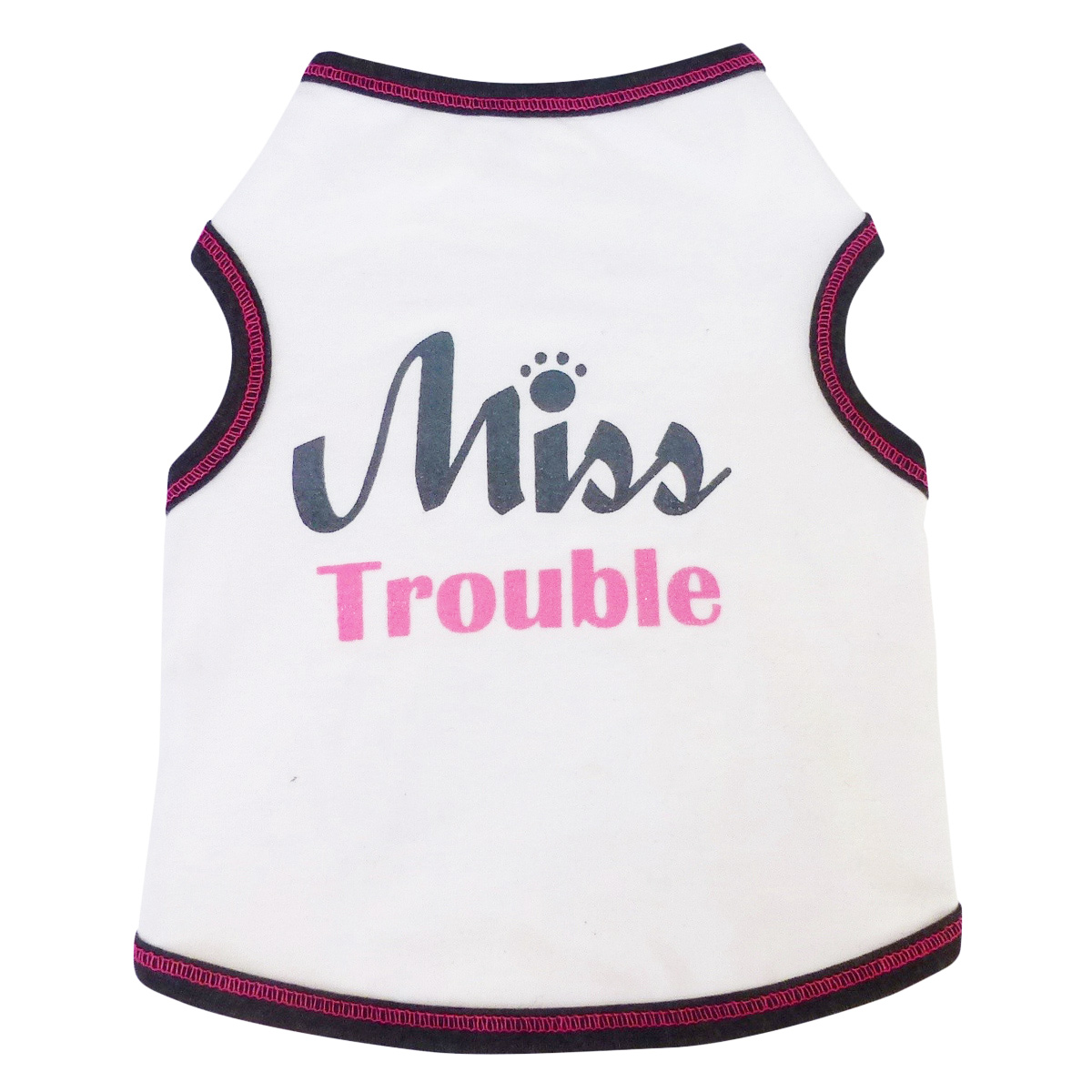 Dog Shirt tank - Miss Trouble