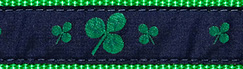 Preston Ribbon Collar Shamrock Dog Collar - Irish St. Patrick's Day
