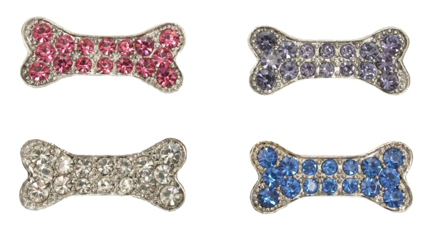 10mm Rhinestone Slide Charm Bone