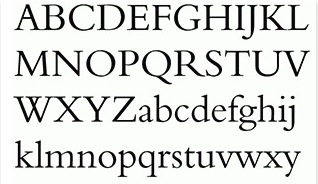 block university font